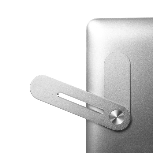 Multifunctional Laptop Expasion Bracket Phone Holder Aluminum Alloy Bracket for Office Silver
