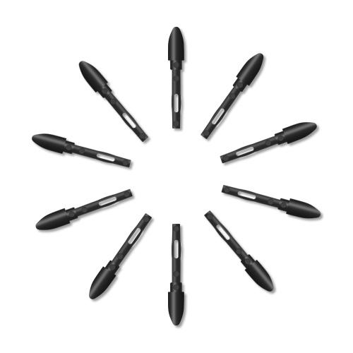 Huion PN05, 10 шт., Сменные наконечники для пера, перья для графических планшетов, высококачественные износостойкие наконечники для перьев Huion PW500 / PW507