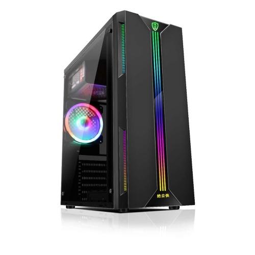 Case per computer desktop ATX Full-view Lato trasparente RGB Custodia per PC Supporto ATX / Micro ATX / Mini ventola di raffreddamento ITX / Scheda grafica da 330 mm