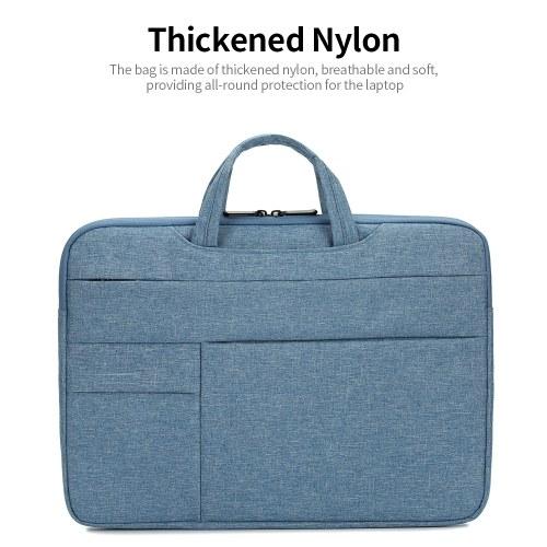 Portable Laptop Bag 15.4 inch Laptop Case Waterproof Nylon Laptop Bag Briefcase Leisure Business Handbag Black