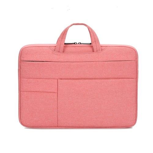 Portable Laptop Bag 15.4 inch Laptop Case Waterproof Nylon Laptop Bag Briefcase Leisure Business Handbag Pink