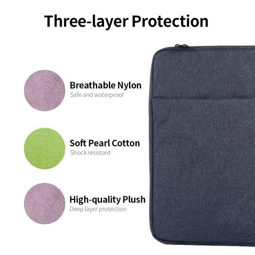 Multifunctional Laptop Bag 15.4 inch Laptop Case Waterproof Nylon Laptop Bag Briefcase Leisure Business Handbag Black