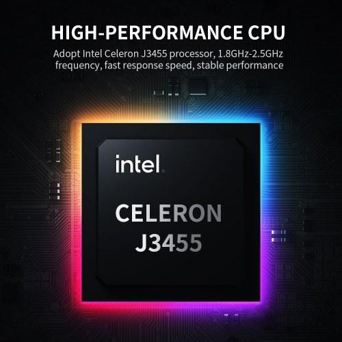 14 inch Portable Business Laptop with Intel Celeron J3455 Processor 1920*1080 IPS Screen 8GB+512GB Memory