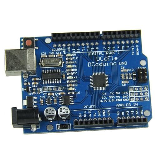 DIY DCCduino ATMEGA328 Development Board for Arduino UNO R3 - Blue