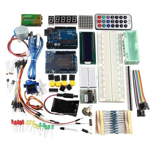 R3 Zestaw szkoleniowy UNO dla Arduino z silnikiem krokowym 1602LCD Czujniki Przewód łączący serwonapędę Servo