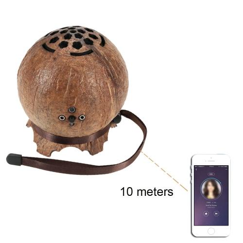 Ultra Portable Mini Wireless Coconut Shell BT 4.0 Speaker Super Bass Stereo Audio Music Player Hands