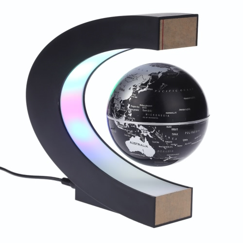C shape magnetic levitation floating world map globe rotating with c shape magnetic levitation floating world map globe rotating with led lights for learning education gumiabroncs Image collections
