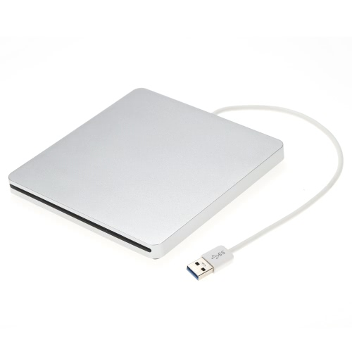 USB 3.0 Portable Ultra Slim External Slot-in DVD-RW CD-RW CD DVD ROM Player Drive Writer Rewriter Burner for Mac Laptop PC Desktop