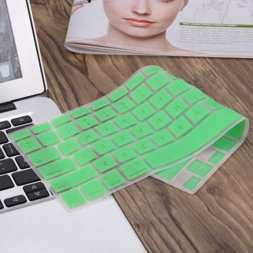 "Silicone Anti-dust Ultra-thin Laptop Keyboard Protective Film Cover Sticker Skin US Layout for MacBook Pro 13.3"" Retina"