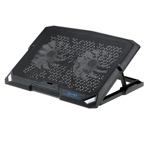 BUJIAN Portable USB Laptop Cooling Pad Cooler Base Chill Mat Radiator up to 1200 RPM with 2 LED Fans for Notebook No More Than 15.6