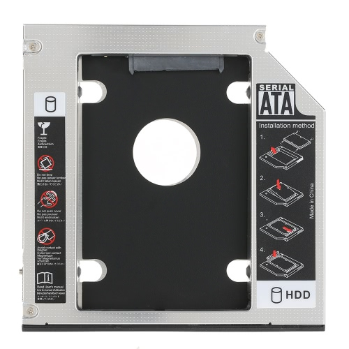 Uniwersalny 12.7mm SATA 2-te SSD HDD Hard Drive Caddy dla DVD-ROM, CD Optical Bay