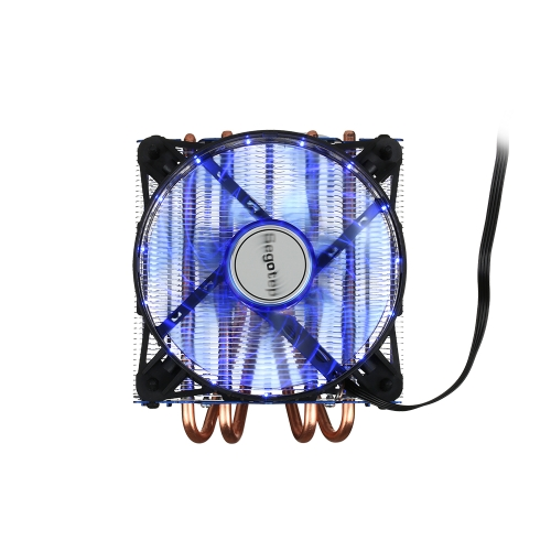 Segotep T4 Frost Castle Cooling System CPU Cooler LED Lights 4 Heatpipes 4 Pin PWM Fan for Intel/AMD