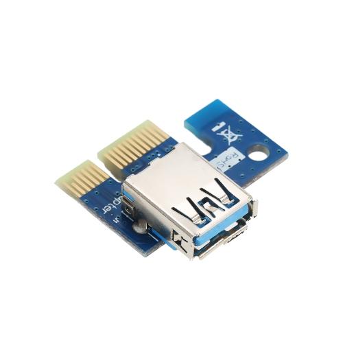 Segotep PCI-E 1X zu 16X Powered USB 3.0 GPU Extender Riser Adapter Karte 6Pin w / 60cm USB3.0 & Molex zu SATA Stromkabel für den Bergbau ETH BTC Bitcoin Ethereum Litecoin