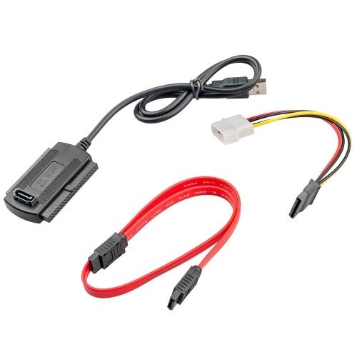 USB 2.0アダプタコンバータケーブルへのSATA / PATA / IDEドライブ2.5 '' / 3.5 '' HDDハードディスクドライブ用ホットスワッププラグアンドプレイ