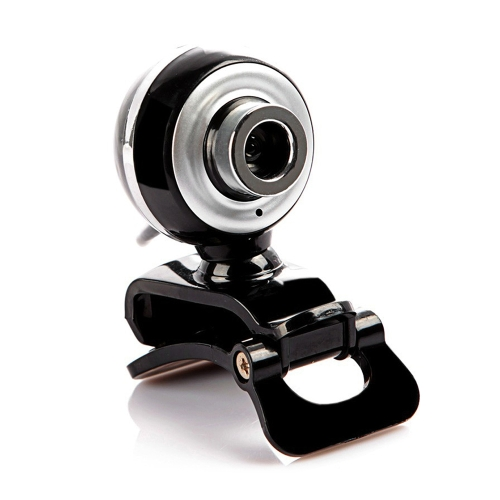 A848 USB2.0 480P Pixels HD Webcam Built-in Sound Absorption Microfone Web Cam com imagens de cor verdadeira para Desktop Laptop Black and Silver