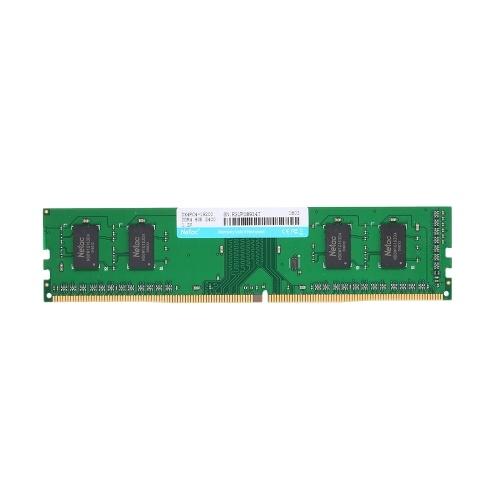Netac DDR4 Memória 8GB 2400MHz MT / s 1.2V PC4-19200 UDIMM 288 pinos para Desktop