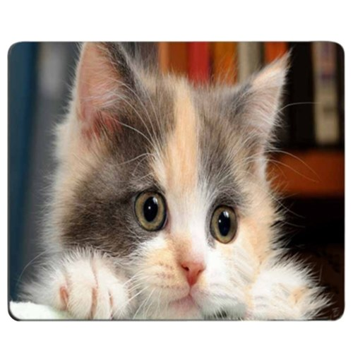 CAT-3 Mouse Pad Cute Cat Picture Anti-Slip Gaming Mouse Mat for PC Computer Laptop MackBook