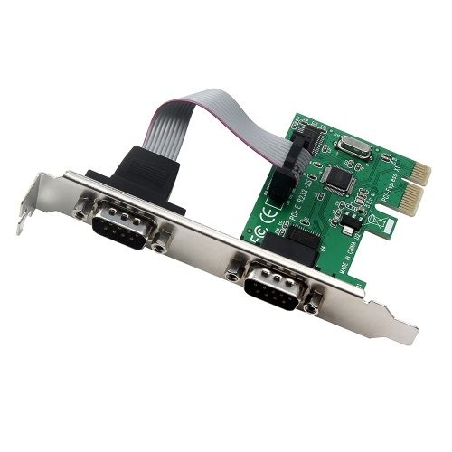 PCI-E to RS232 Dual Serial Ports Interface Expansion Card COM Adapter For Desktop PC