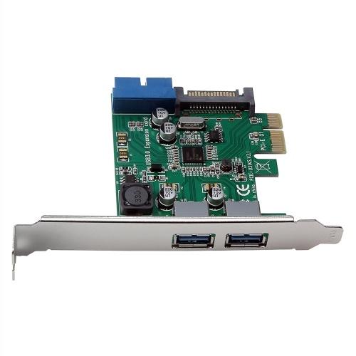 Scheda di espansione PCI-E a USB 3.0 ad alta velocità Scheda convertitore 19-PIN PCI Express per PC desktop