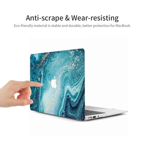 """MacBook Pro 13 """"Hülle Superdünne gummierte Laptop-Hülle mit Schutz für Apple 13"""" MacBook Pro Modell A1278 Kanalmuster"""