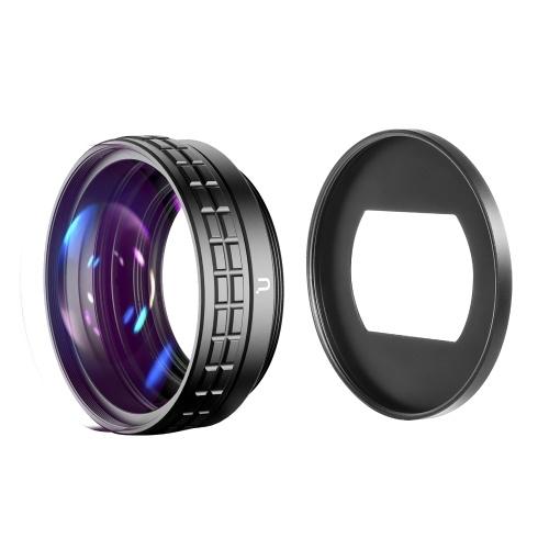 Ulanzi WL-1 Objectif grand Angle 18 mm Objectif Macro 10X Objectif supplémentaire 2 en 1 avec adaptateur de monture d'objectif Ulanzi 2367 Compatible avec l'appareil photo Sony RX100M7