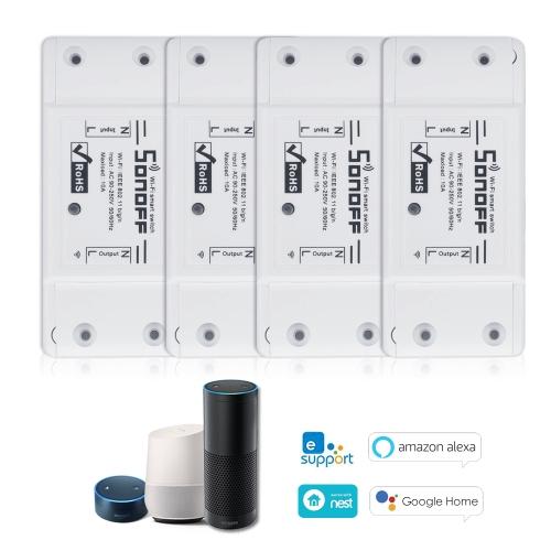 SONOFF Basic Wifi Switch funktioniert mit Alexa für Google Home 4PCS