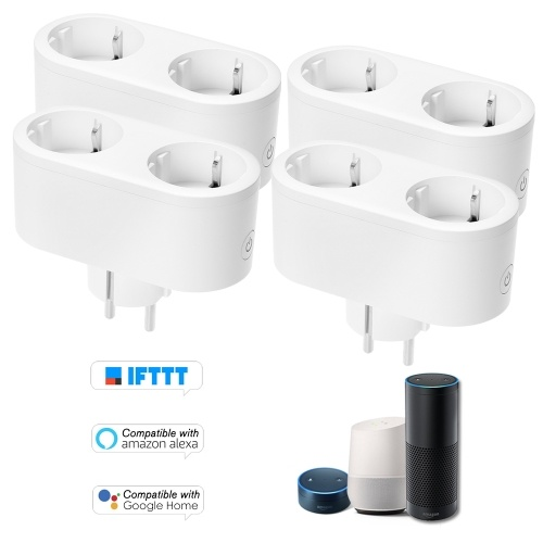 4PCS Smart WiFi Socket EU Tipo E