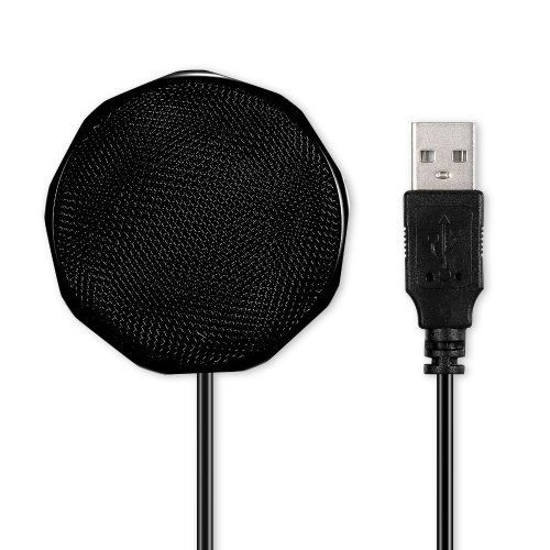 USB Condenser Microphone Omnidirectional Desktop Computer Mic 360° Sound Pickup for Conference Voice Chat Remote Education