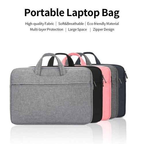 Multifunctional Laptop Bag 15.6 inch Laptop Case Waterproof Nylon Laptop Bag Briefcase Leisure Business Handbag Pink