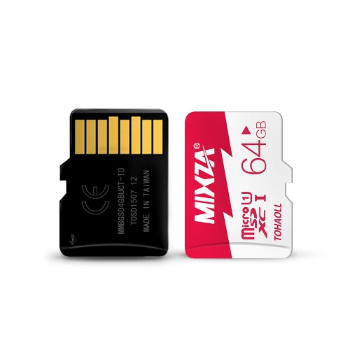 MIXZA High Capacity 32GB TF Flash Memory Card Transflash Class 10 80MB/s Write Speed for Smartphone Tablet