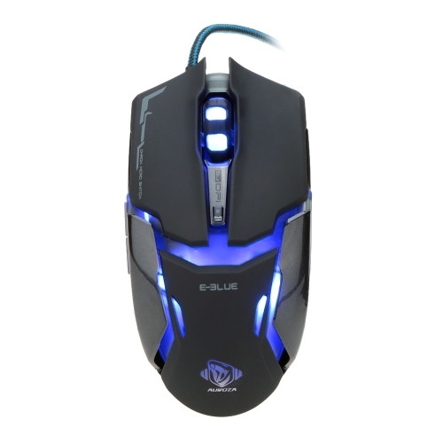 E-BLUE Wired USB Optical Gaming Mouse DPI Adjustable Colorful LED Night Light for Computer Laptop PC