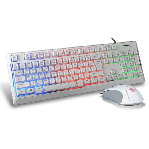 B-STROM T7200 USB Wired Gaming Keyboard with 1600 DPI Optical Backlit Mouse Combo Set