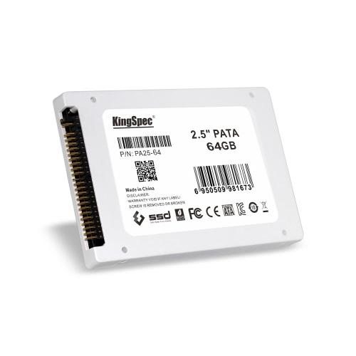 "KingSpec PATA (IDE) 2.5 ""64GB MLC Digital SSD Solid State Drive para PC"