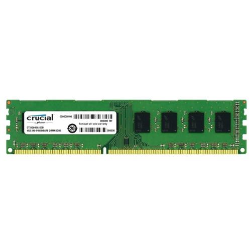 Crucial 4GB DDR3 1600MHz PC3-12800 1.5V CL11 240 Pin UDIMM PC Desktop Memory RAM CT51264BA160B