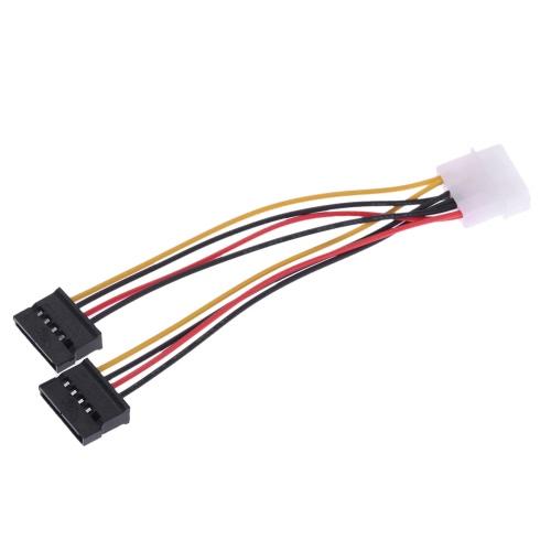 SATA Zasilanie Splitter Y-Cable 4 Pin IDE / Molex męski na podwójny 15 pin SATA Kobieta zasilacz dla HDD / SSD / dysk twardy