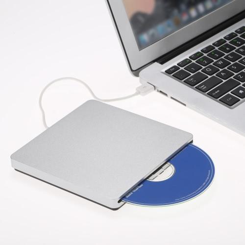 USB 2.0 Portable Ultra Slim External Slot-in CD DVD ROM Player Drive Writer Burner Reader for iMac/MacBook/MacBook Air/Pro Laptop PC Desktop