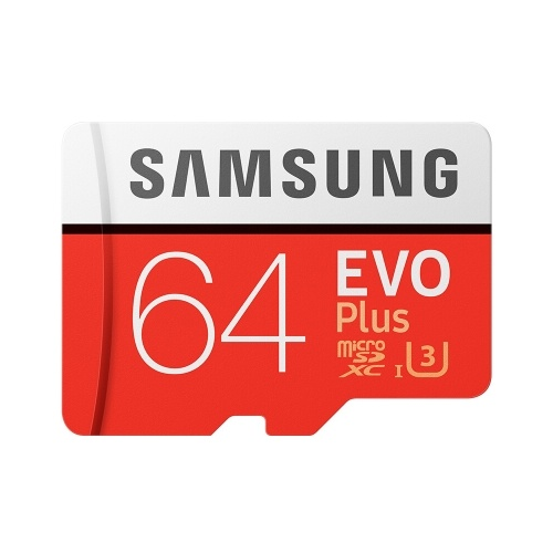 Samsung Memory 64GB EVO Plus MicroSDXC 80MB/s U3 Class 10 TF Flash Memory Card