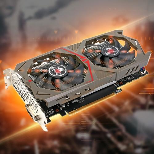 Colorful NVIDIA GeForce GTX GPU 1050 2GB 128bit Gaming 2048M GDDR5 PCI-E X16 3.0 Video Graphics Card DVI + HDMI + Port DP con due ventole di raffreddamento