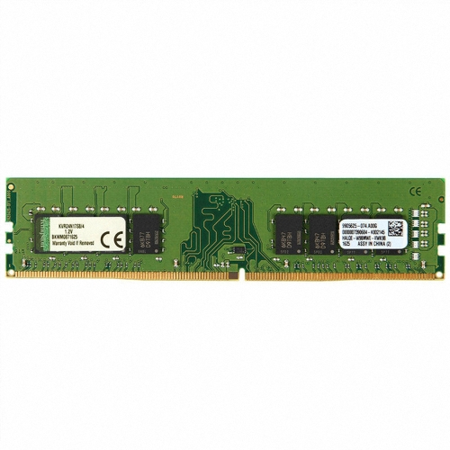 Kingston ValueRAM 4GB 2400MHz DDR4 PC4-2400 não ECC CL17 1.2V 288 pinos DIMM 1Rx8 Memória Desktop KVR24N17S8 / 4