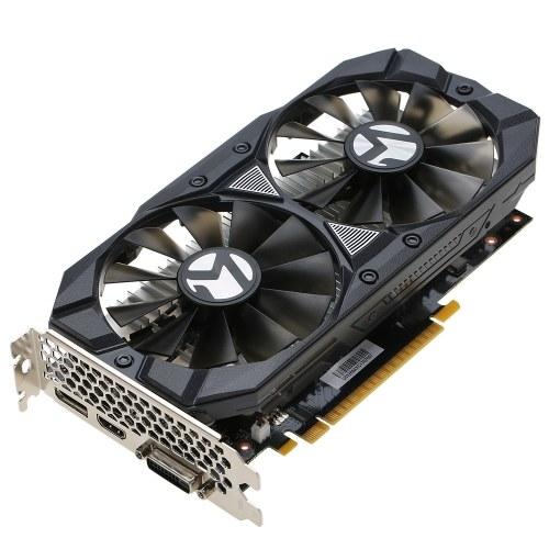 MAXSUN GeForce GTX1050 Optimus Prime 2G gier wideo karty graficznej 1354-1455MHz / 7000MHz 2G / 128bit GDDR5 PCI-E 3.0 X16 HDMI + DVI + DP Port Podwójny 10cm Chłodzenie