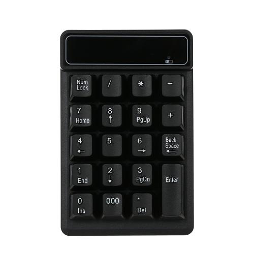 Klawiatura numeryczna Klawiatura bezprzewodowa 2.4G Mini Portable 19 Klawiszy Klawiatura numeryczna Klawiatura finansowa z odbiornikiem USB Bezprzewodowa