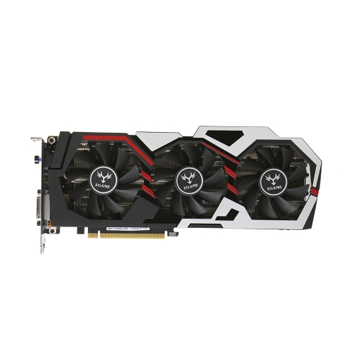 Cartão de vídeo colorido iGame NVIDIA GeForce GTX 1070Ti Vulcan U Top
