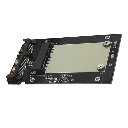 S101-RTK mSATA TO SATA III Converter Adapter 2.5inch Gabinete de alumínio