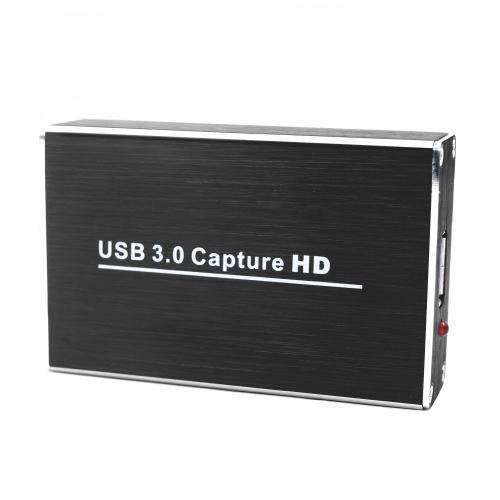 Konwerter HD Video Capture z kluczem USB3.0 1080P 60FPS Bezobsługowe okno do przechwytywania kart dla systemu Windows Linux Os X Black