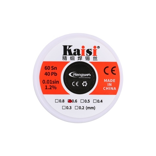 0.6mm 40g Flux 1.2% Tin Lead Tin Wire Soldering Wire Roll
