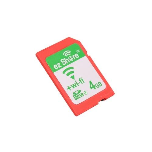 EZ partilha WiFi Share Memory Cartão SD Wireless Camera Share Cartão SDHC Flash Card Classe 10 4GB para Canon / Nikon / Sony