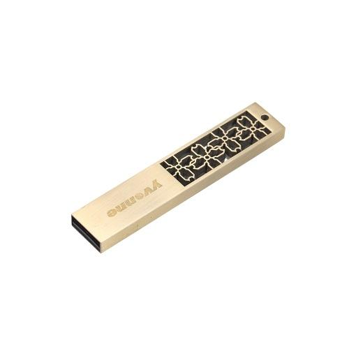 yvonne Metallo USB Flash Drive Pen Drive 64G Memory Stick Pendrives regalo con fiori di finestra