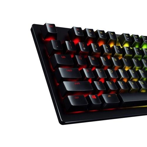 Проводная игровая клавиатура Razer Huntsman Механическая игровая клавиатура RGB Подсветка Тактильные переключатели Эргономичный дизайн для портативных ПК фото