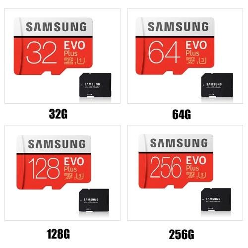 SAMSUNG Memory Storage Card 32GB/64GB/128GB/256GB 95MB/S 4K Class10 Micro SD Cards Red Plus U3 64GB