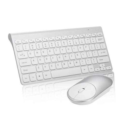 2.4G Mouse Óptico Sem Fio Teclado Ratos USB Kit Receptor para PC Laptop Portátil Terno Do Escritório